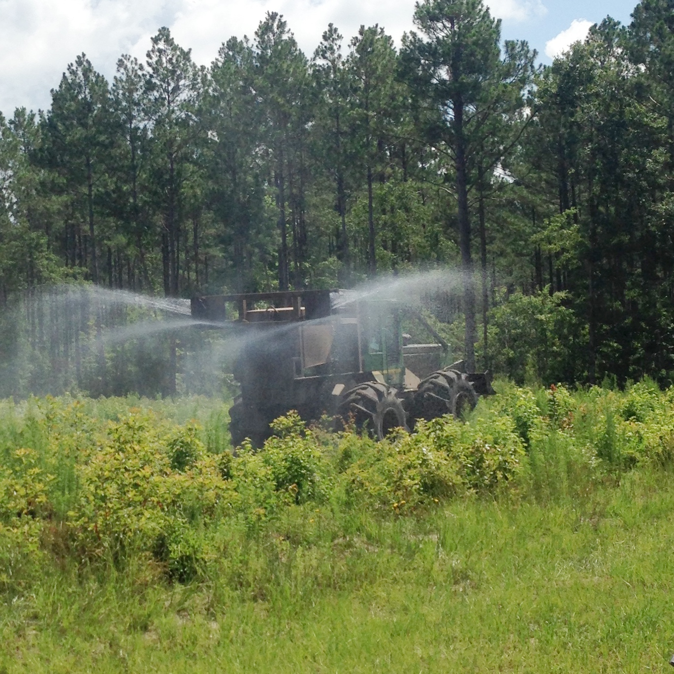 Skidder Spraying