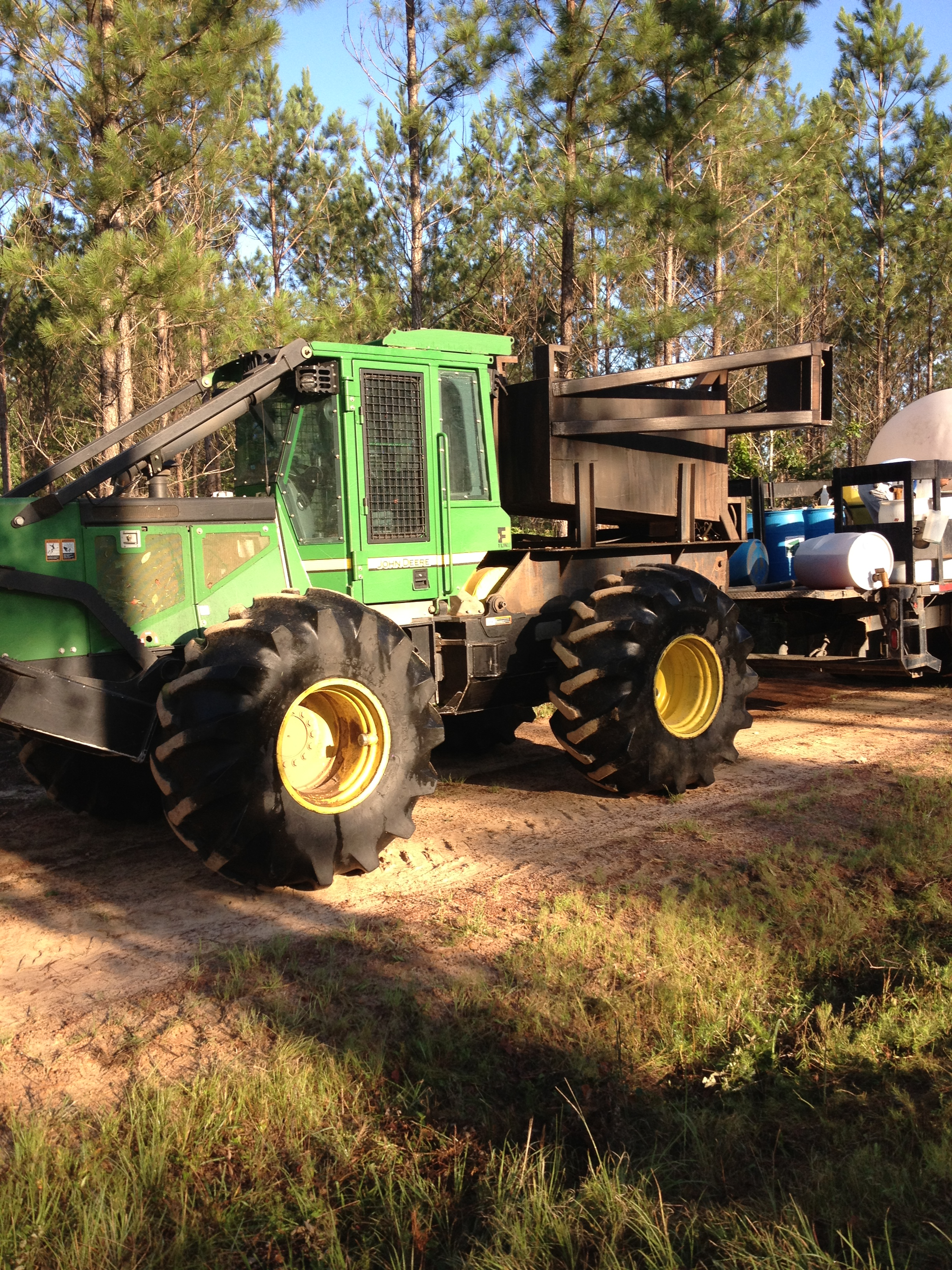 Skidder loading up on chemicals