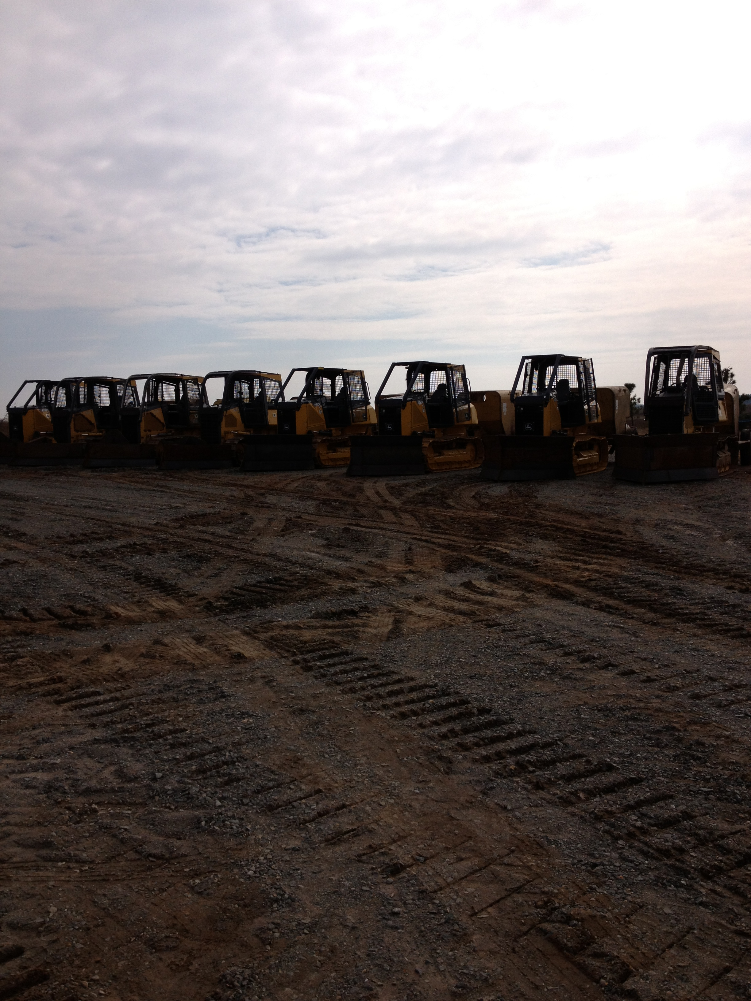 Bull Dozers ready for a new planting season